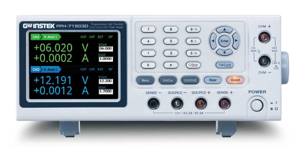 Новые 2-х канальные прецизионные программируемые источники питания постоянного тока PPH-71506D и PPH-71510D