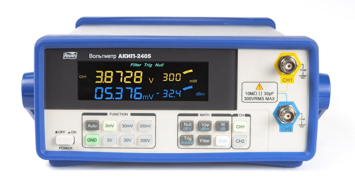 Новые модели высокочастотных вольтметров переменного напряжения - АКИП-2404 и АКИП-2405