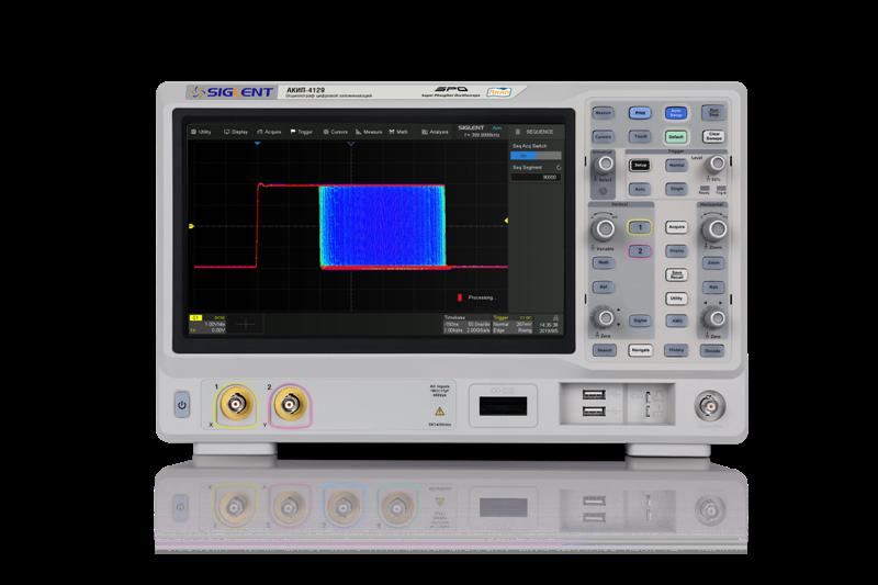 АКИП-4129 - передовая серия осциллографов с возможностью выбора разрешения АЦП и расширения полосы пропускания до 500 МГц