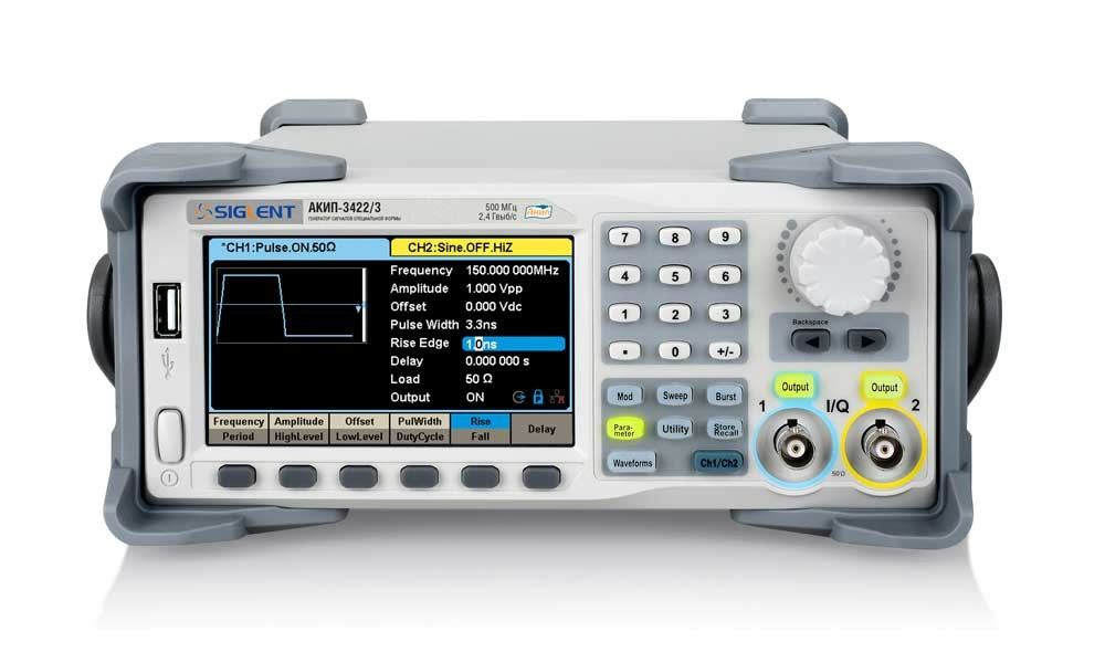 Генераторы серии АКИП-3422 - лучшее решение для создания сигналов в диапазоне до 500 МГц. Цена снижена