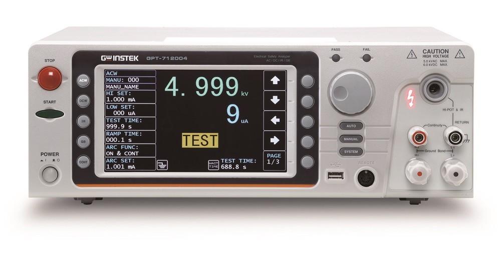 Новая флагманская серия анализаторов параметров электробезопасности GW Instek: GPT-712000