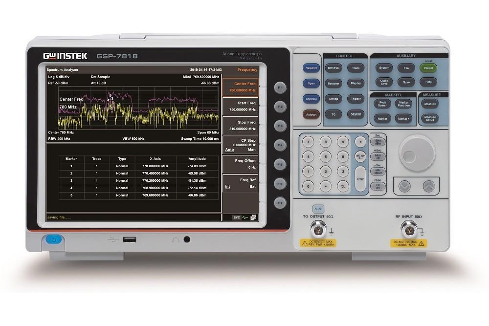 Новый недорогой анализатор спектра GW Instek - GSP-7818