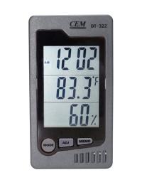 DT-322 - Измеритель температуры и влажности, часы